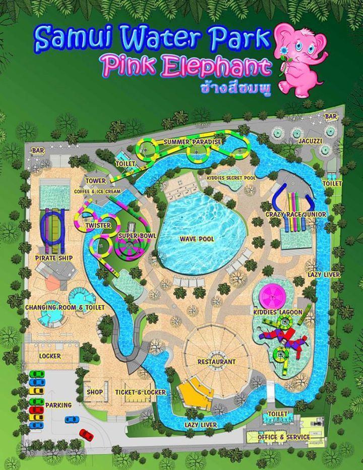 Аквапарк «Розовый слон» на самуи карта