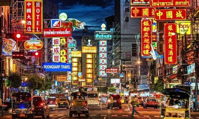 Китайский квартал в Бангкоке Чайнатаун (Chinatown)
