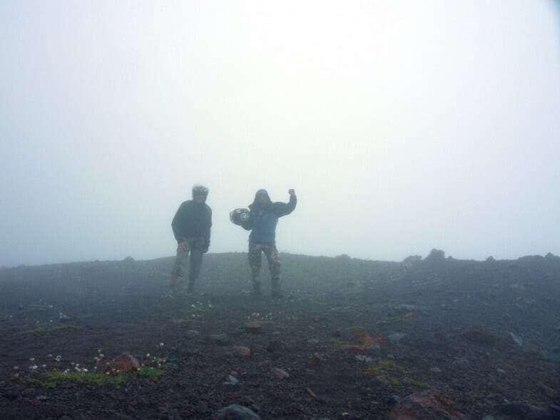 Гора Эльбрус туман