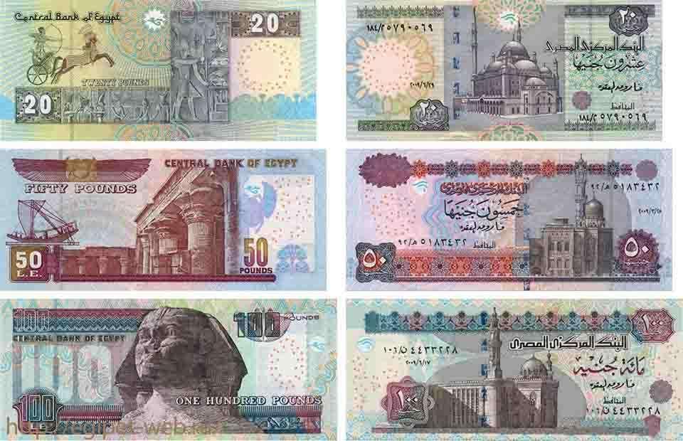 египетский фунт (LE)