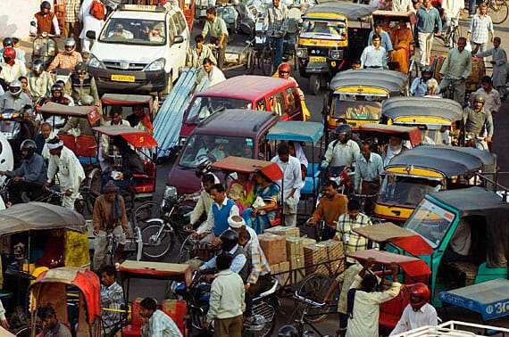 пробки в индии