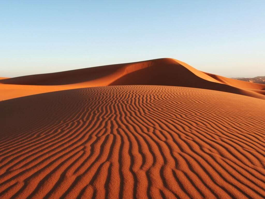 Красные дюны в Муйне