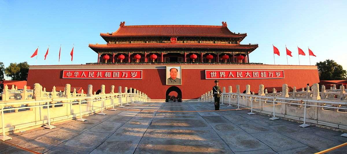 Врата Небесного Спокойствия, Пекин, Китай.