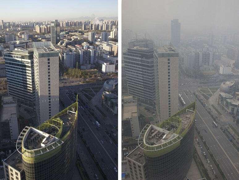 Густой смог накрыл Пекин