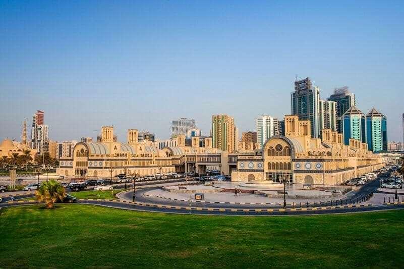 Рынок Шарджи, самый большой рынок в Арабских Эмиратах