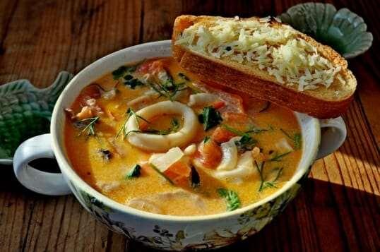 Суп с морепродуктами на Гоа