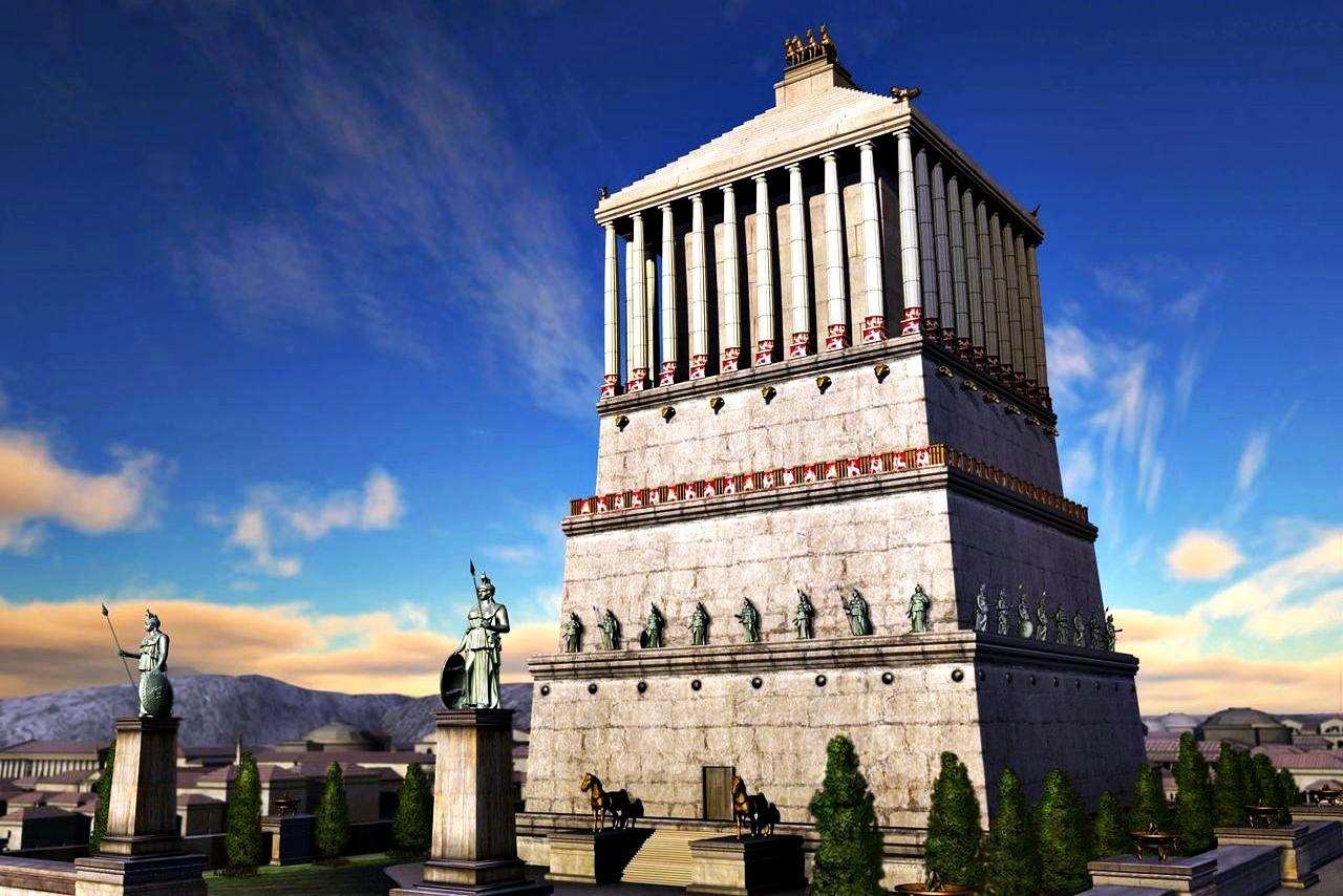 Это одно из семи чудес света. Гробница возводилась правителю Мавсолу и в ее строительстве принимали участие лучшие архитекторы и скульпторы того времени.