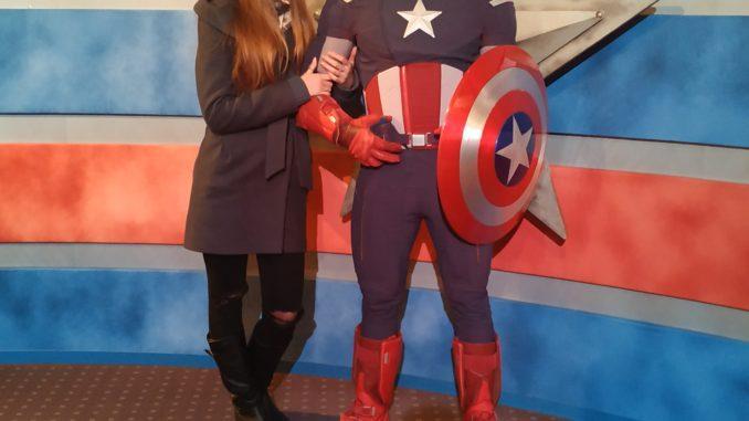 Капитан Америка, большой павильон выделен под супер героев Марвел