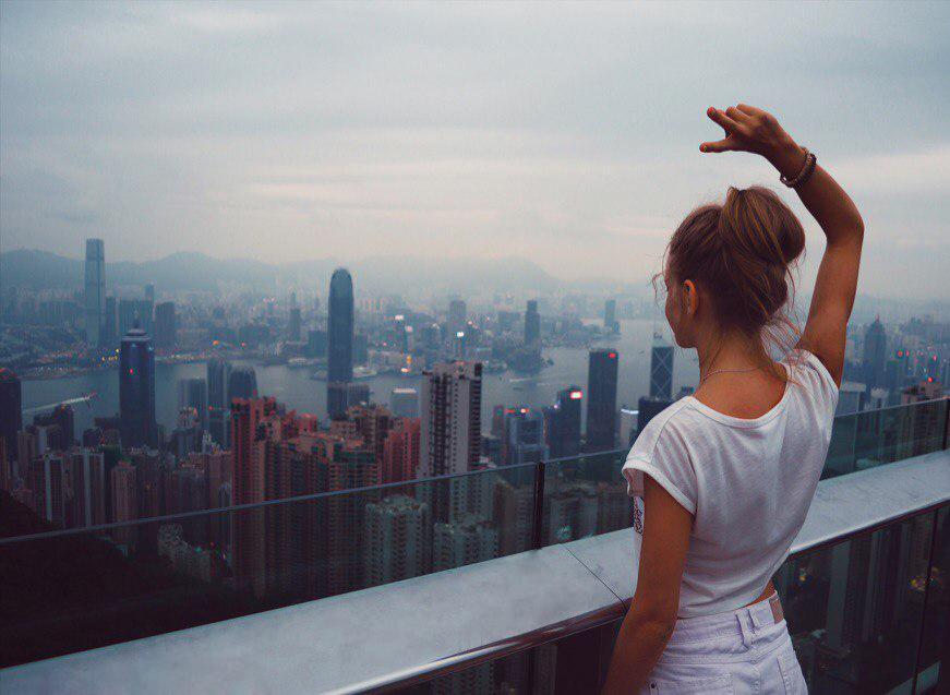 Пик Виктория открывает самый красивый вид на город Гонконг