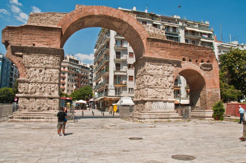 Во времена правления римлян в центре Салоников был воздвигнут комплекс в честь действующего монарха Гая Галерия