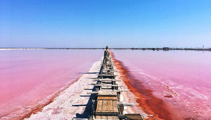 Сасык-Сиваш – озеро в западной части Крыма. Это самое крупное крымское озеро. Оно находится возле Евпатории.