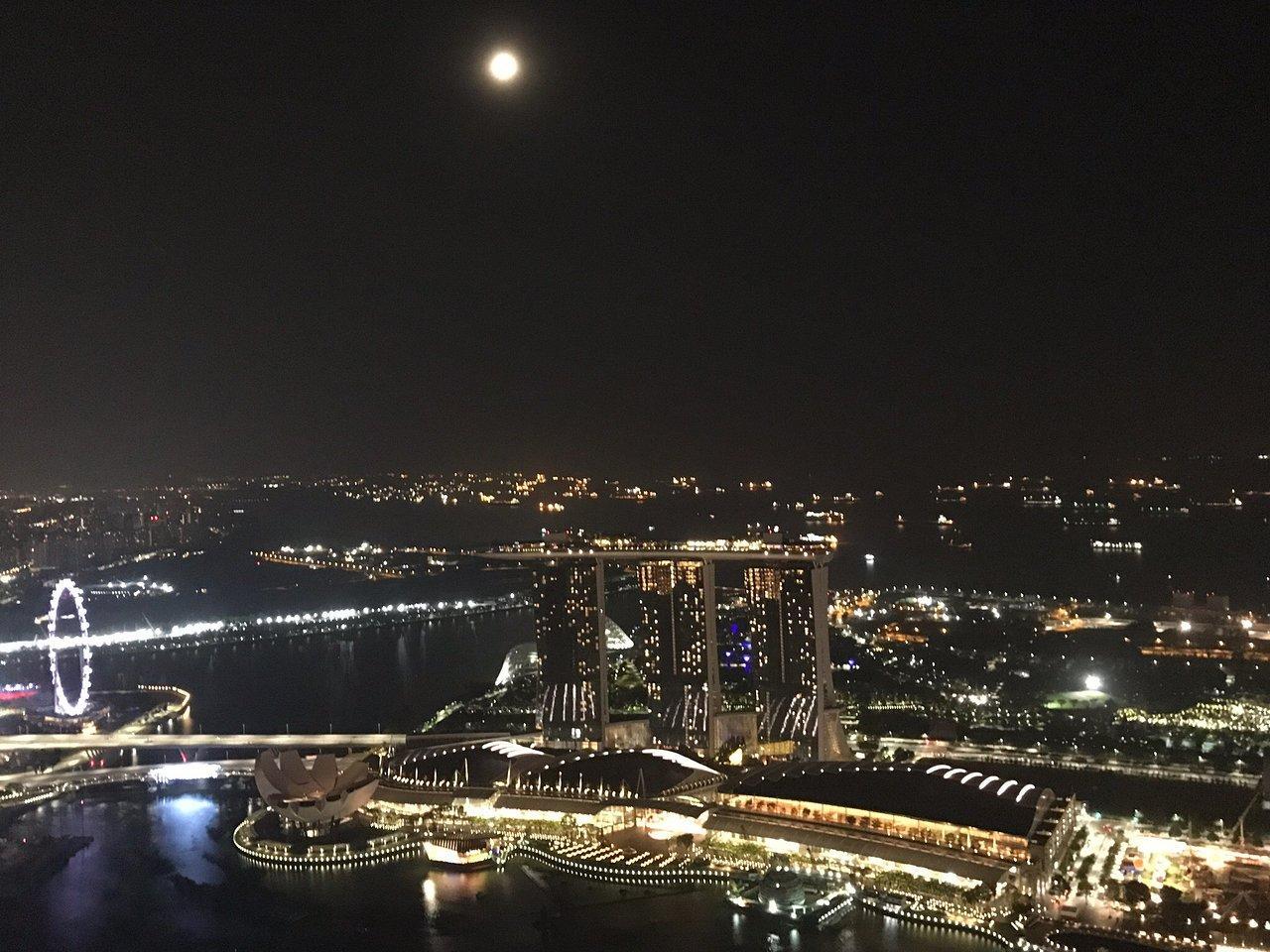 Эта вторая достопримечательность Сингапура, отмеченная мировым рекордом. Отель находится в самом высоком здании города, его высота 282 м