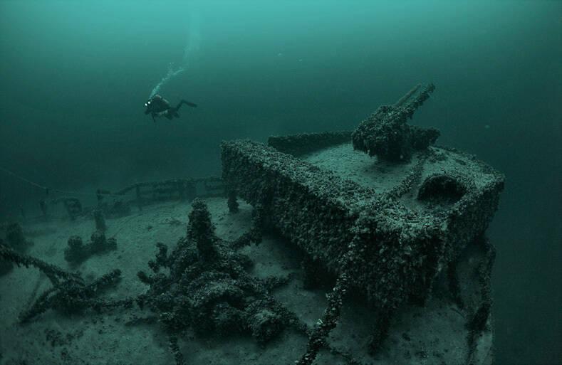 Корабль, затонувший у берегов Поповки в 1943 году, со временем стал настоящей достопримечательностью