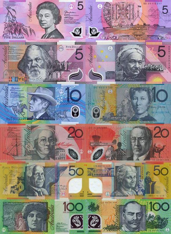 В стране есть национальная валюта – австралийский доллар. Обозначается он таким же знаком, как и американский - $, хотя бывает, что его пишут вот так – A$, $A, AU$, $AU. Его стоимость не равна долларам США.