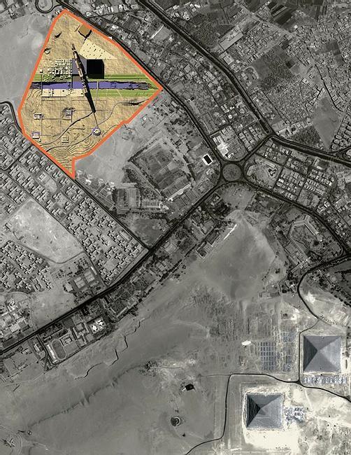 bolshoj egipetskij muzej v kaire na karte