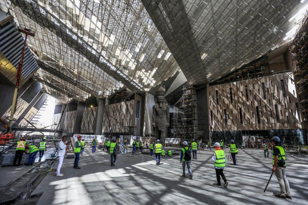 Вход в Большой Египетский музей