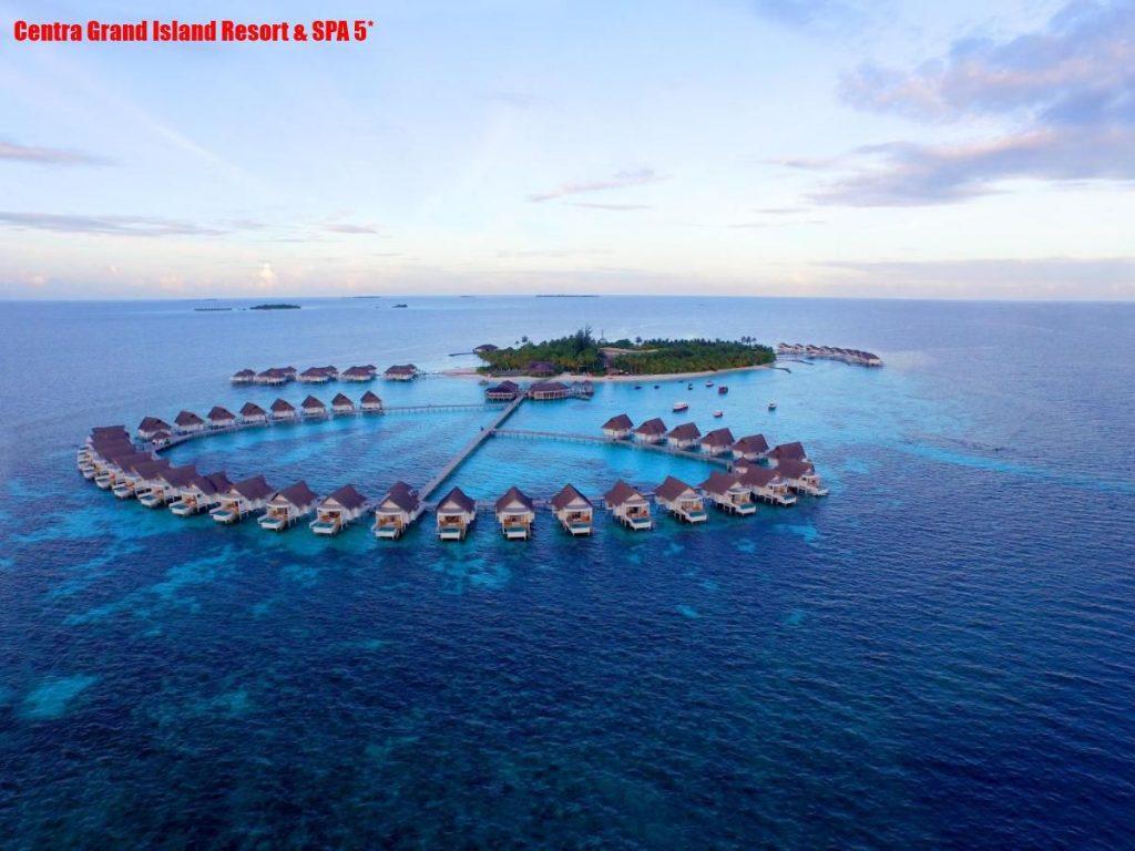Centra Grand Island Resort & SPA 5* находится на атолле South Ari, от аэропорта до места лететь примерно 25 минут.