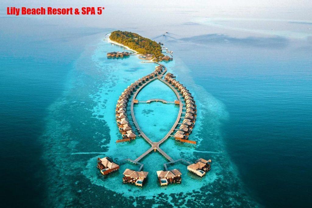 Отель располагается на острове Huvahendloo, на атоле South Ari, на гидросамолете путь до отеля составит 25 минут