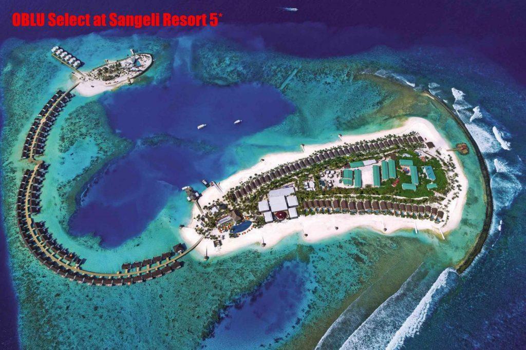 OBLU Select at Sangeli Resort 5* расположился на атолле North Male. Добраться до места можно на скоростном катере, время в пути составит 40 минут.